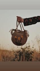 Hasır El Örgüsü Çanta