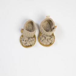 Örgü Bebek Sandaleti (Ekru)