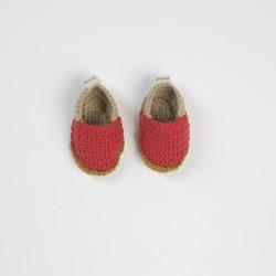 Örgü Bebek Patiği (Turuncu)
