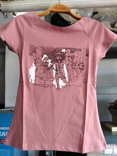 Gezi Model - Patronsuz Tişört(Gül Kurusu)