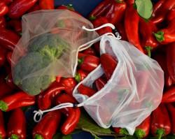 Tül Sebze - Meyve Torbası Seti (3 Adet) - File Torba Set
