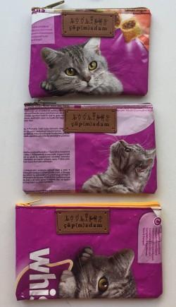 Mama Paketinden Kedi Cüzdanı