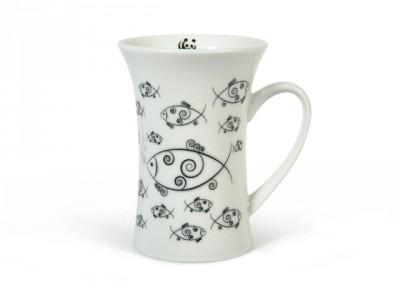 Balıklı Porselen Mug